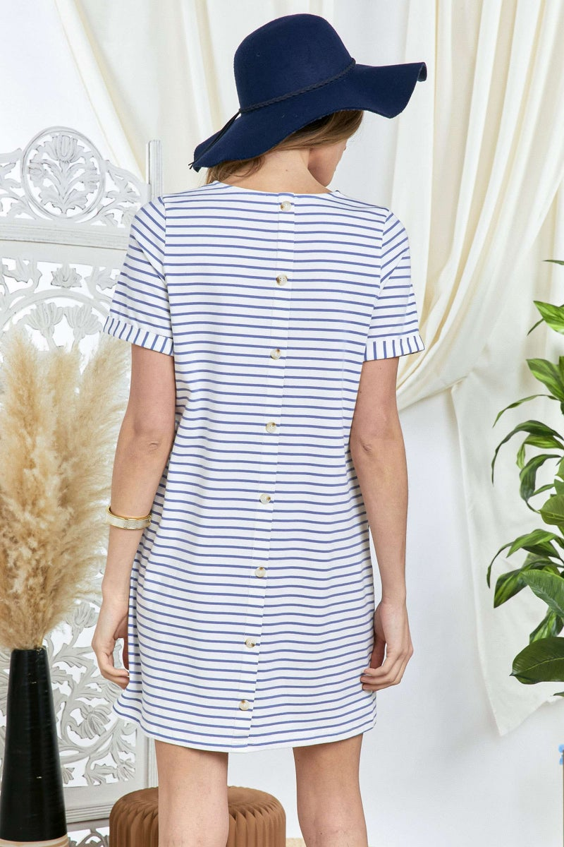 Button Back T-shirt Dress