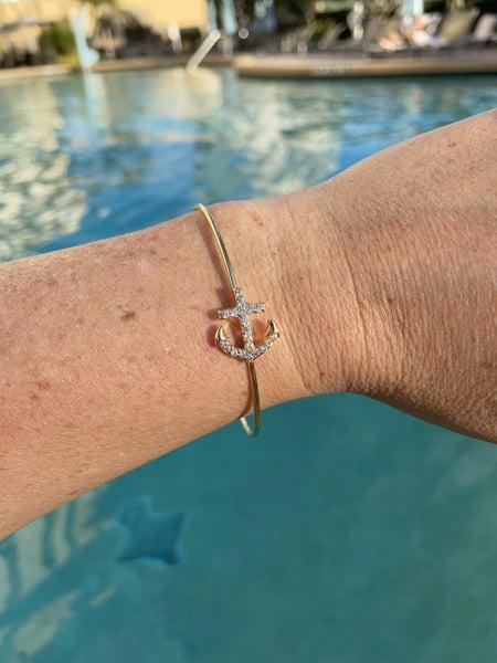 Anchor Bangle Bracelet