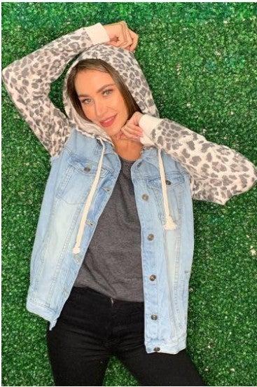 Denim Cheetah Jacket