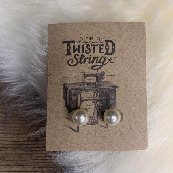 Large Pearl Stud Earrings