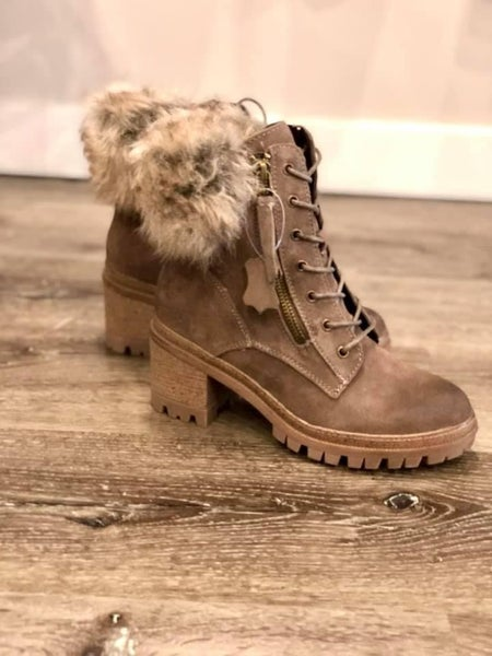 Genuine Suede Fur Boots