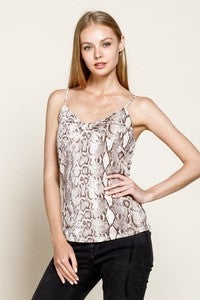 Snake Twisted Front Cami