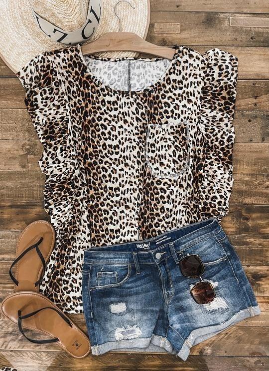 Tabby Cheetah Top