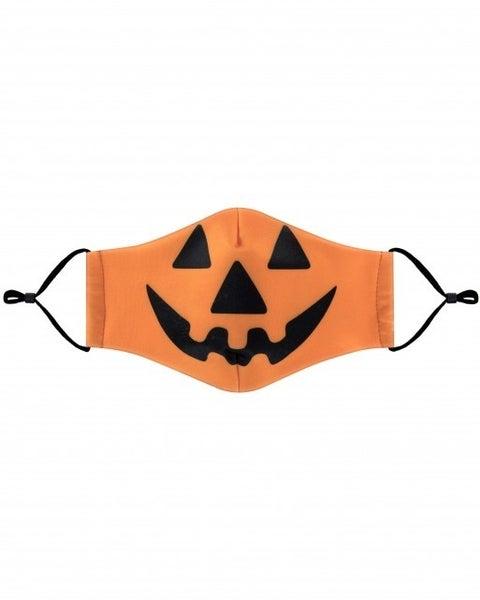 Orange Halloween Pumpkin Face Covering