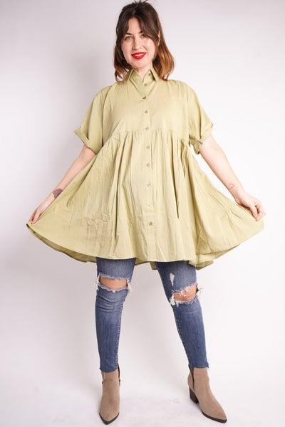 Winnie Button Down Tunic Dress, 3 Colors!