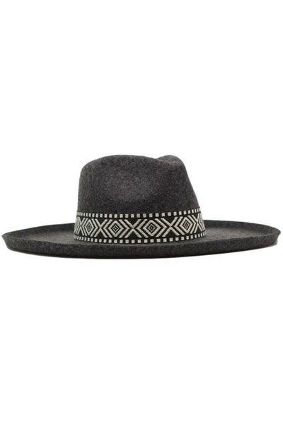 Flicked Edge Wool Panama Hat