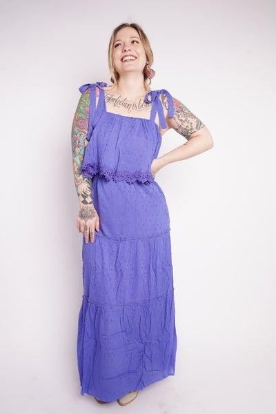Miami Tie Shoulder Maxi Dress, Cobalt