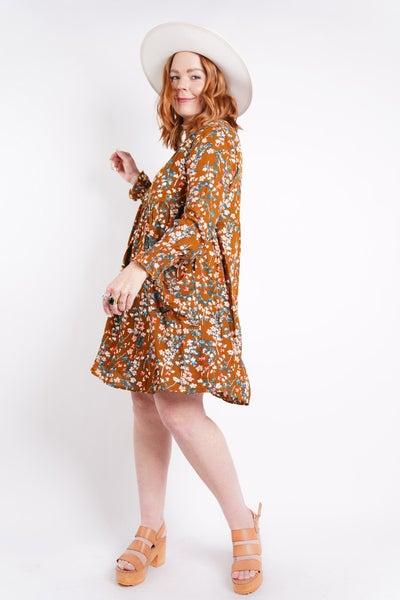 Meredith Floral Babydoll Pocket Dress