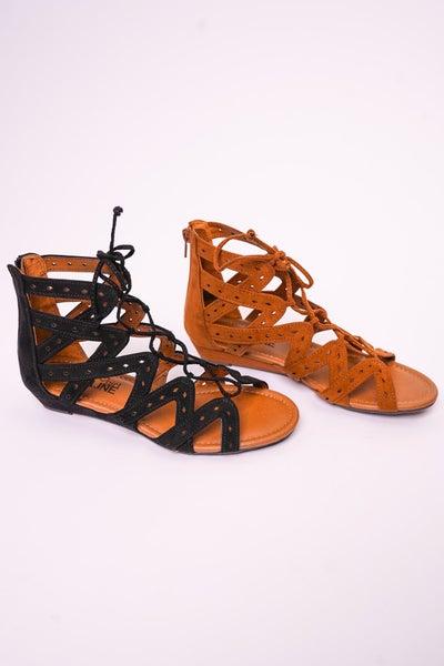 Finesse Lace Up Sandal, 2 Colors!