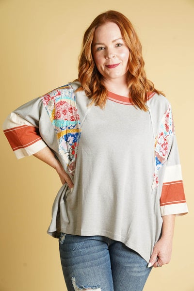 Mix And Match Pinstripe Tee By Easel