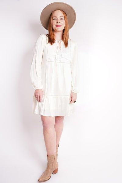 Florence Eyelet Mid-length Dress