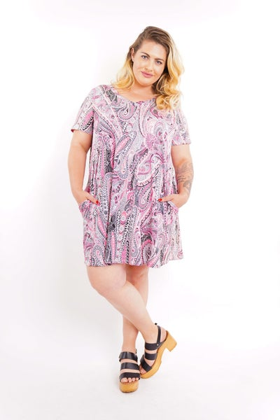 Paisley Party Tunic Top