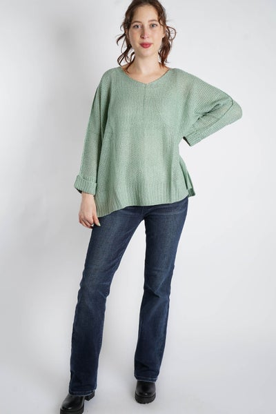 In Your Dreams Lightweight V Neck Sweater