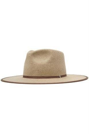 Billie-Wool Felt Rancher Hat in Oatmeal