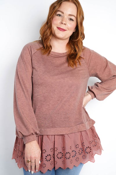 Don't Pop My Bubble Sleeve Layer Top, Rose