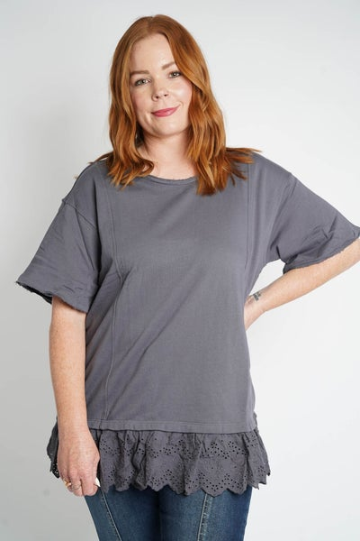 Lace Talk About It Loose Fit Top