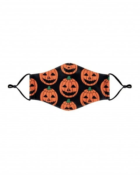 Kids Happy Pumpkin Face Covering