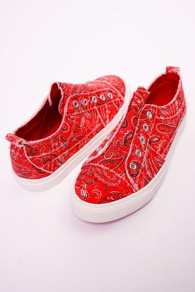 Corkys Red Bandana Babalu Sneakers