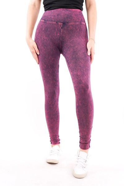 Humble Mineral Wash Full Length Leggings, 3 Colors!