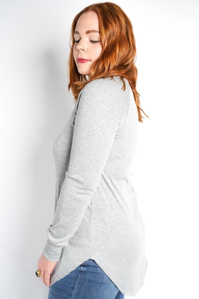 Warm N Cozy Ribbed Long Sleeve, 2 Colors!