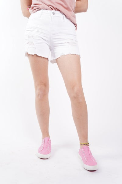 The WILLA Eyelet Patch Shorts By Judy Blue