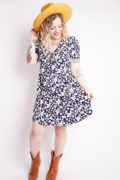 Eden Puff Sleeve Floral Dress
