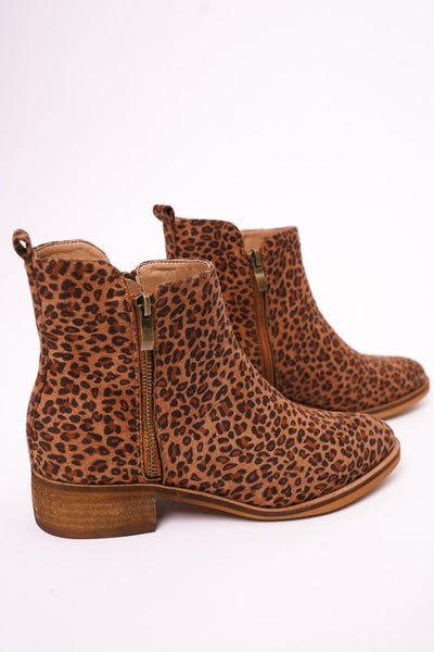 Neal Leopard Ankle Boot