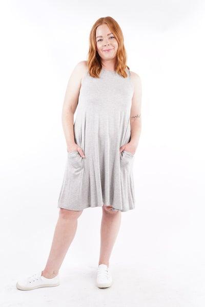 Catalina Sleeveless Hidden Pocket Dress, 2 Colors!