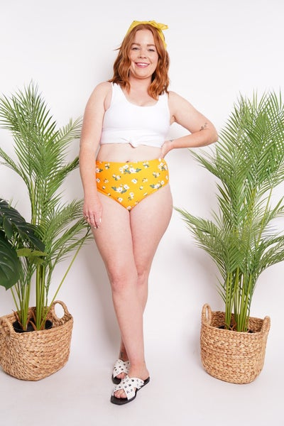Lily Floral Mid Rise Reversible Bottoms