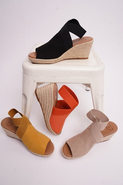 Sunny Day Wedge Sandals, 4 Colors!