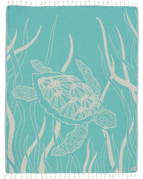Mint Turtle Seagrass Large Towel