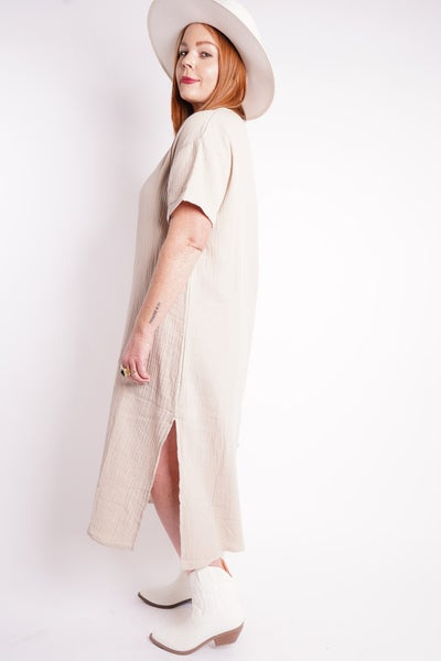 One And Done Textured Maxi Dress, 2 Colors!