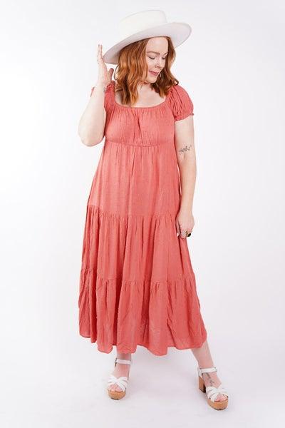 Arya Pom Pom Cap Sleeve Dress, 2 Colors!