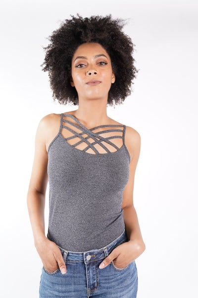 Seamless Triple Criss-Cross Front Cami Top