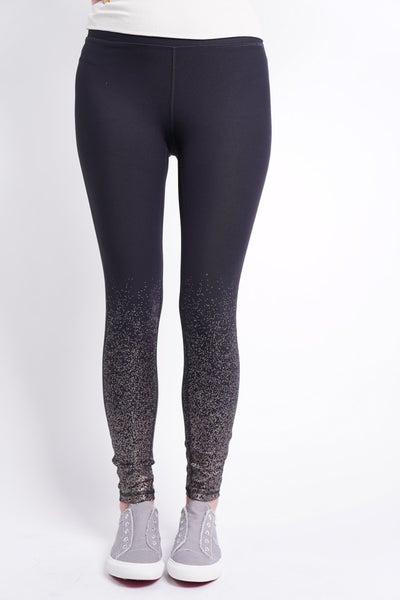 Metallic Raindrop Foil High Waisted Legging, 2 Colors!