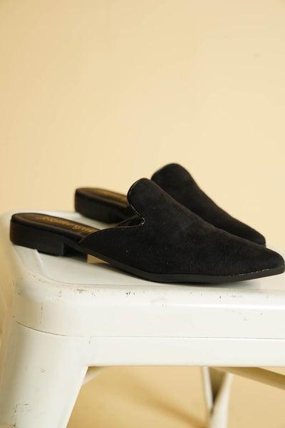 Bonita Black Suede Mule