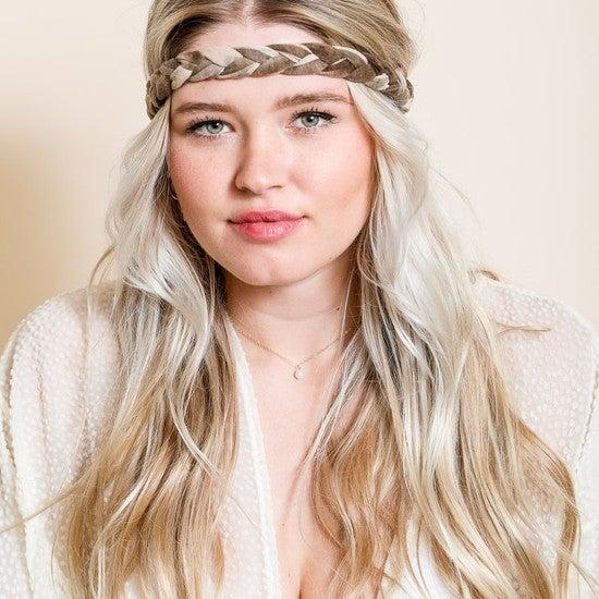 Tie Dye Braided Headwrap
