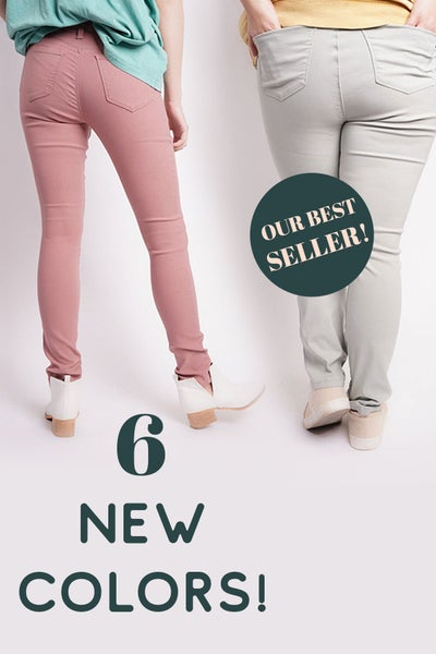 Hyperstretch Skinny Jean Jeggings- 6 New Spring Colors