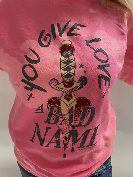 You Give Love... Bleached Graphic Sweatshirt