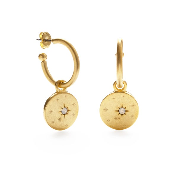 Estrella Disk Hoop Earrings