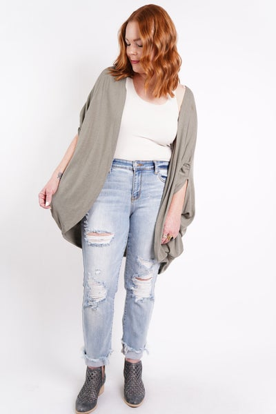 Easy Street Half Sleeve Cardi, 2 Colors!
