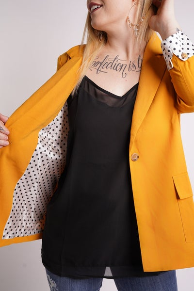 Best Of You Polka Dot Lined Blazer, 2 Colors!