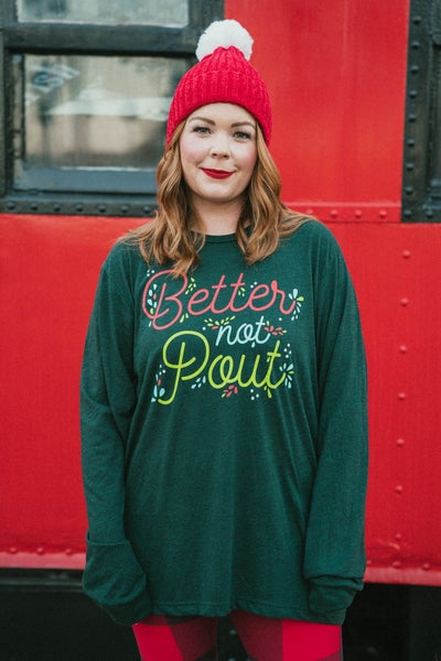 Better Not Pout Graphic Long Sleeve