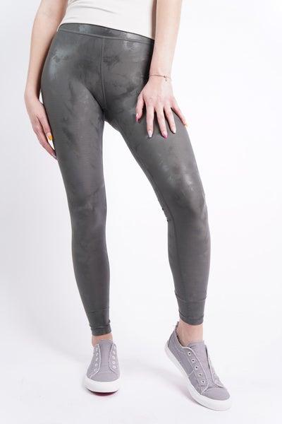 Orion Metallic Foil High Waisted Leggings