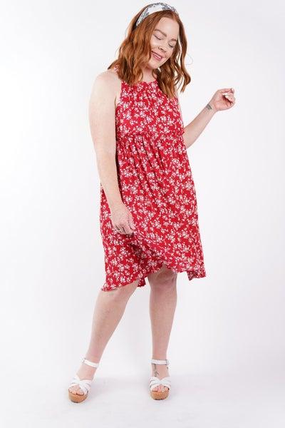 Hello Spring Floral Halter Babydoll Dress, 2 Colors!