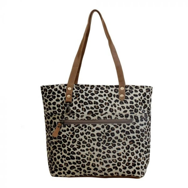 Magnetic Leather & Hairon Bag