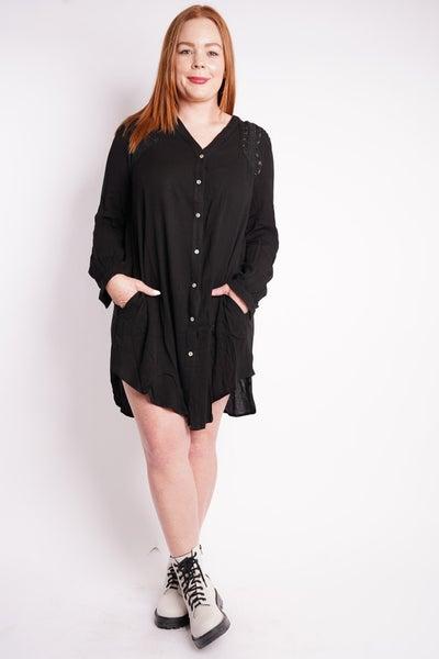 Ava Embroidered Shirt Dress