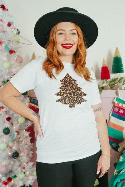 Meow-y Christmas Tree Graphic Tee