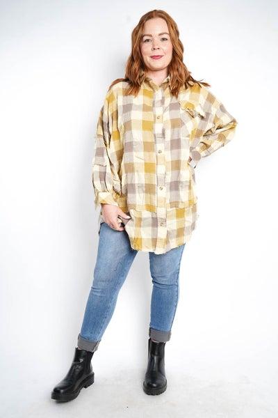 Picnic Flannel Dress By Easel, Khaki