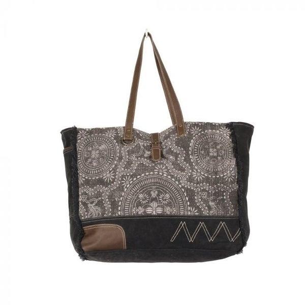 Gleam Floral Weekender Bag By Myra Bag